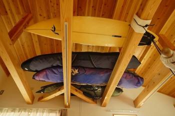 4.サーフボード置き場